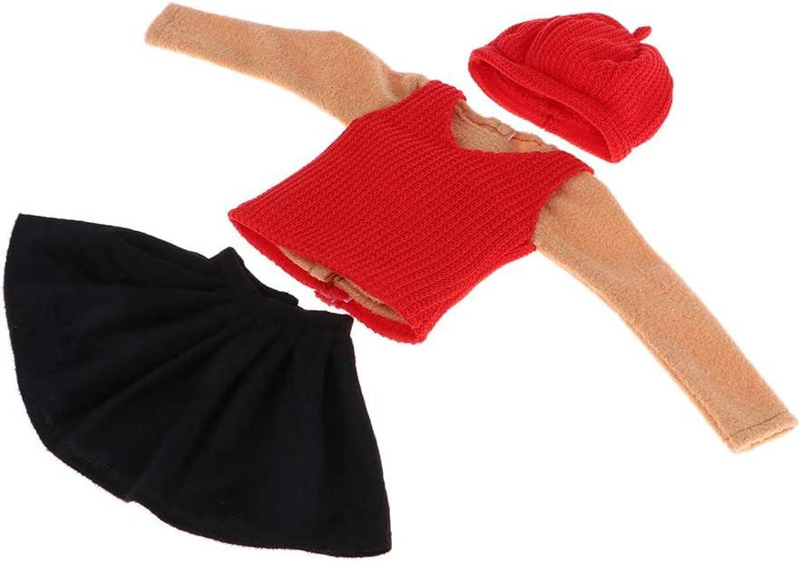 CUTICATE Modische M/ädchen Puppen Kleidung Freizeitkleidung f/ür 1//3 BJD Puppen Mantel Kleid Kette // Oberteile A Str/ümpfe Rock Hut