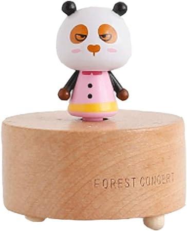 Caja de música Caja de música de Mano de Madera Caja de música de Cuerda giratoria Adornos Decorativos Regalo de cumpleaños Creativo (Color : F): Amazon.es: Hogar