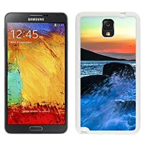 New Beautiful Custom Designed Cover Case For Samsung Galaxy Note 3 N900A N900V N900P N900T With Sea Spray Surf Sunset (2) Phone Case