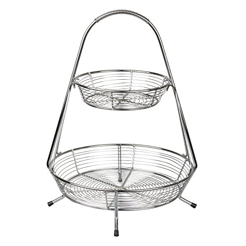 It's Useful Hanging Wire Basket – 2 Tier Baskets for Fruit & Vegetables - Open Air Storage & Display by It's Useful
