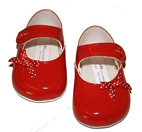Baypods bp613Baby Girl Zapatos Rojo Patente Zapatos con lazo y cierre de botones de lunares. Ofrece a usted por Mellow ser Edad 0–
