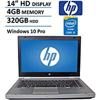 HP 14 HD Elitebook 8470P Business Laptop Computer, Intel Dual Core i5 2.6Ghz Processor, 4GB Memory, 320GB HDD, DVD, VGA, RJ45, Windows 10 Professional (Certified Refurbished)