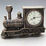 Originality modelling locomotives brass watch Mechanics Desk clock Decoration