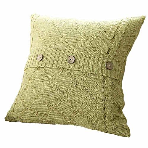 CUCUHAM Knitting Button Fashion Throw Pillow Cases Cafe Sofa