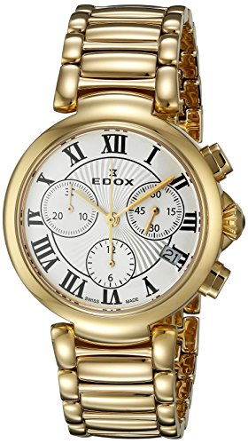 Edox Women's 10220 37RM AR LaPassion Analog Display Swiss Quartz Rose Gold Watch