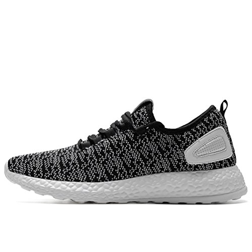 Sherry Love Women Sports Sneakers Running Shoes With Lightweight Breathable Comfortable and Soft Function-Black and White-37 EU Review