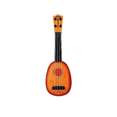 ADATEN Niño Musical Instrumentos Juguete Simulado Grano de Madera Mini Ukelele Juego de Manos Guitarra Estilo de Frutas Principiante Ilustración Instrumento Musical Juguete de Rompecabezas,A: Deportes y aire libre