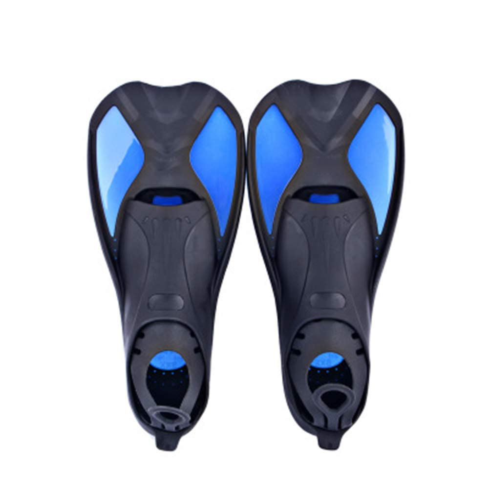MFWFR Swim Fins, Snorkel Fins, Adjustable for Snorkeling, Diving Adult Men Womens Scuba Open Heel Swimming Flippers,Ideal for Swimming and Diving,Blue,XL by MFWFR