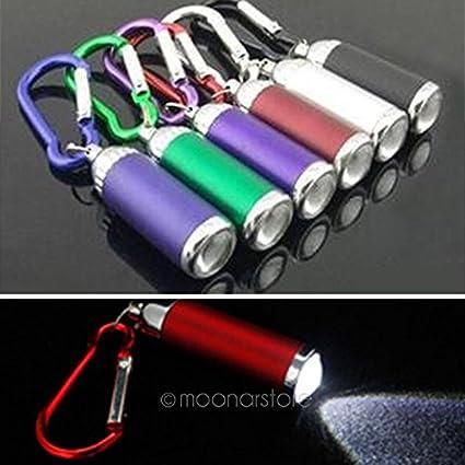 Mini Linterna LED con Llavero mosquetón, batería Ultra ...