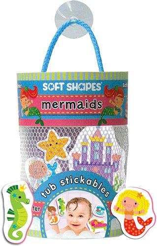 Innovative Kids Soft Shapes Illustrated Tub Stickables Mermaids Playset