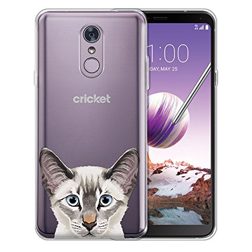 - FINCIBO Case Compatible with LG Stylo 4, Clear Transparent TPU Silicone Protector Case Cover Soft Gel Skin for LG Stylo 4 - Lynx Point Lilac Siamese Cat