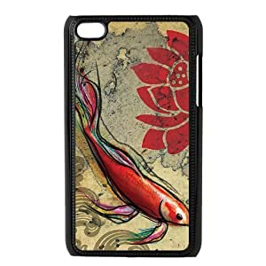 Custom Fish Design Plastic Case Protector For Ipod Touch 4 4th Generation