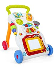 Multi-function Walker Toy Baby Stroller Anti-rollover Learning Stand With Music