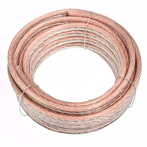 Conext Link PSC8GS-25 Parallel Gold Silver Speaker Cables Full Gauge Oxygen Free Copper Zip Wire (8 Gauge, 25 feet)