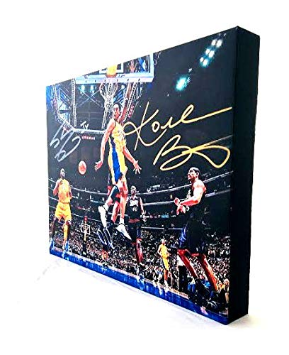 - Kobe Bryant & Shaquille O'Neal Autographed RP 11x14 Canvas Print Wall Art