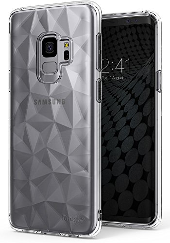 Ringke [Air Prism] Compatible Galaxy S9 Case 3D Vogue Design Chic Ultra Rad Pyramid Stylish Diamond Pattern Flexible Textured Protective TPU Cover Galaxy S 9 (2018) - Clear