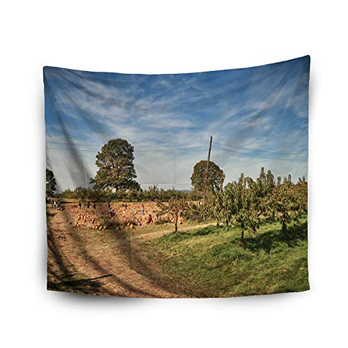 Jacrane Tapestry Wall Hanging with 60x80 Inches Halloween Wilkens Farm Yorktown Heights New York/USA October 21 2017 Art Tapestries for Bedroom Living Room Home Decor Wall Hanging -