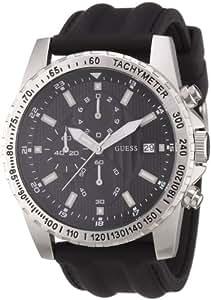 Guess W14044G1 - Reloj analógico de cuarzo para hombre con correa de caucho, color negro
