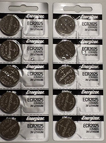 (Energizer CR2025 3V Lithium Coin Battery 10 Pack (2 packs of 5))