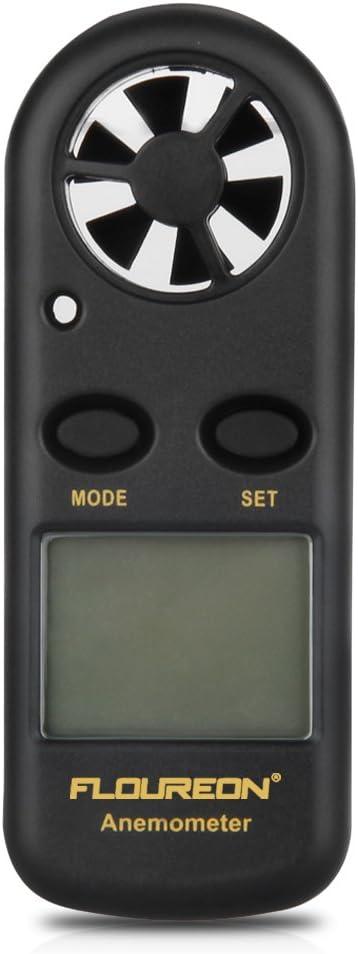 Jarchii Digitales Anemometer digitales LCD-Display-Anemometer Luftstrom-Windgeschwindigkeitsskalenmessger/ät f/ür petrochemische Energiespar Digitaler Windmesser und andere Industriezweige von P