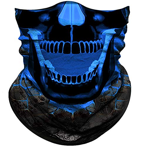 (Obacle Skull Face Mask Half Sun Dust Wind Protection, 3D Tube Mask Seamless Durable Face Mask Bandana Headwear Skeleton Face Mask Motorcycle Bike Riding Fishing Hunting Cycling Festival, Many Patterns)