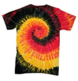 yellow tye dye - Buy Cool Shirts Kids Tie Dye Shirt Black Red Yellow Twist Kingston T-Shirt 10-12