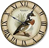 Item C2301 Vintage Style 12 Inch Wood Duck Clock Review
