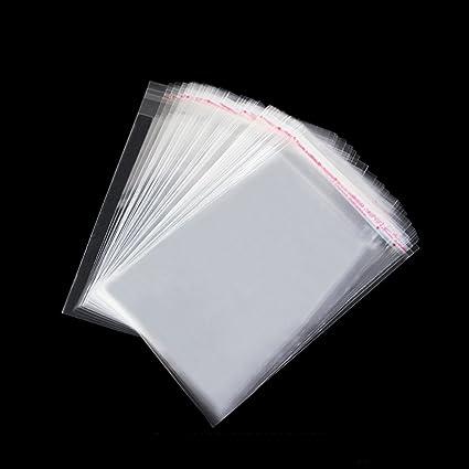 Tomkity 200pcs 7 * 12cm Bolsas de Celofán Transparente Plastico OPP con Cierre Autocierre Banda Autodhesiva para Caramelo Bombones Regalos (7 * 12cm ...