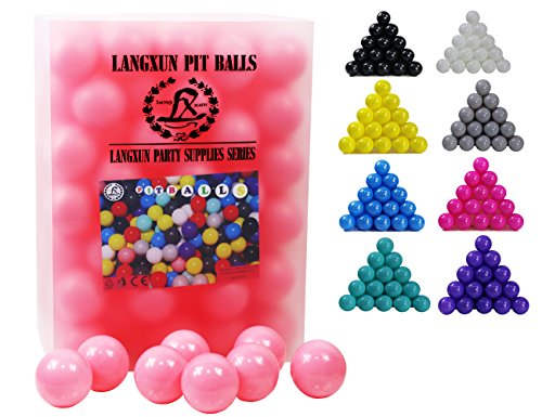 Party Decoration Kiddie Pool Soft Plastic Play Balls for Toddlers for Toddler Ball Pit White LANGXUN Pack of 400pcs Ball Pit Balls Photo Booth Props Wedding Decoration