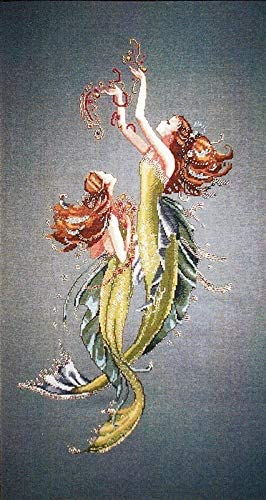 Mediterranean Mermaid Cross Stitch Pattern