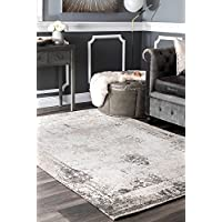 nuLOOM Traditional Vintage Faded Abstract Area Rugs, 2 x 3, Grey