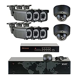 GW Security 1920p HD Oudoor/Indoor Video Security Camera System from GW Security