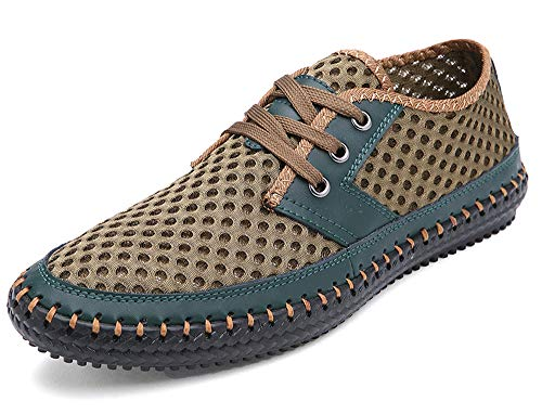 MOHEM Mens Womens Casual Mesh Water Shoes(WS3166Green42)