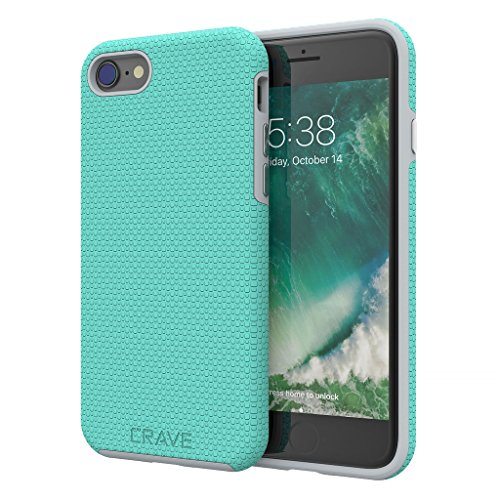 iPhone 8 Case, iPhone 7 Case, Crave Dual Guard Protection Series Case for Apple iPhone 8/7 (4.7 Inch) - Mint/Grey