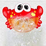 Rolytoy VraiJouet Bath Toys, Crab Bubble Machine with Music Automatic Spout Bath Bubble Maker for Kids Shower