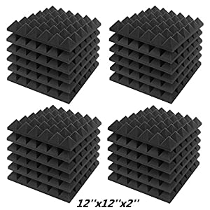 JBER Acoustic Sound Foam Panels, 24 Pack 2&#8...
