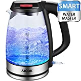 Appliances : Aicok Electric Kettle SpeedBoil 1500W BPA-Free Glass Tea Kettle, Cordless Kettle with Auto Shut-Off and Boil-Dry Protection(FDA Certified/UL Approved)