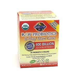 Garden of life raw probiotics 5 day max care 34 probiotic strains 2 4 oz by for Garden of life probiotics amazon