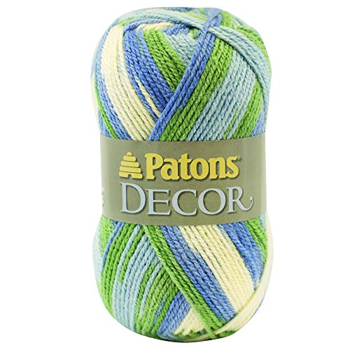 Patons  Decor Yarn - (4) Medium Worsted Gauge  - 3.5oz -  Sweet Country  -   For Crochet, Knitting & Crafting ()