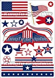 Kungfu Graphics US America Flag United States Micro Sponsor Logo Racing Sticker Sheet Universal (7.2x 10.2 inch)