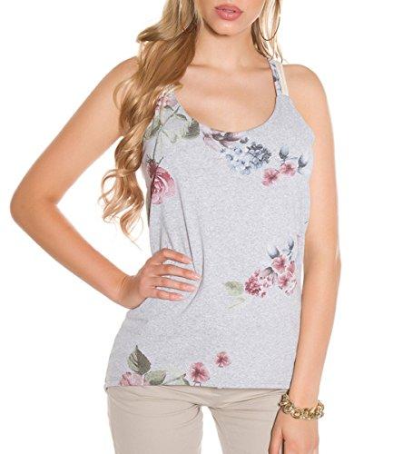 KouCla Ringer top with Flower Print S/M