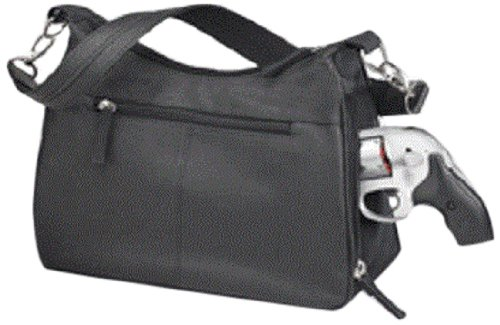 GTM Gun Tote'n Mamas Concealed Carry Basic Hobo Handbag, Black, Small