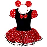 Dressy Daisy Girls' Minnie Mouse Halloween Fancy Dress Dance Costume w/ Headband