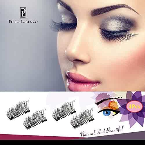 Magnetic Eyelashes Dual Magnet Glue-free 3D Reusable Full Size Premium Quality Natural Look Best False Lashes - 2018