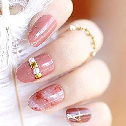 24pcs 12 diferentes tamaño teñido rosa dorado con purpurina ...