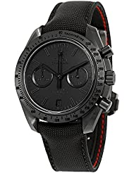 Omega Speedmaster Moonwatch Chronograph Black Dial Black Nylon Mens Watch 31192445101005
