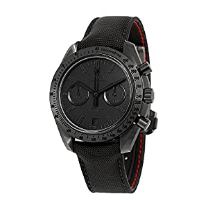 51mloP1ulIL. SS300  - Omega Speedmaster Moonwatch Chronograph Black Dial Black Nylon Mens Watch 31192445101005