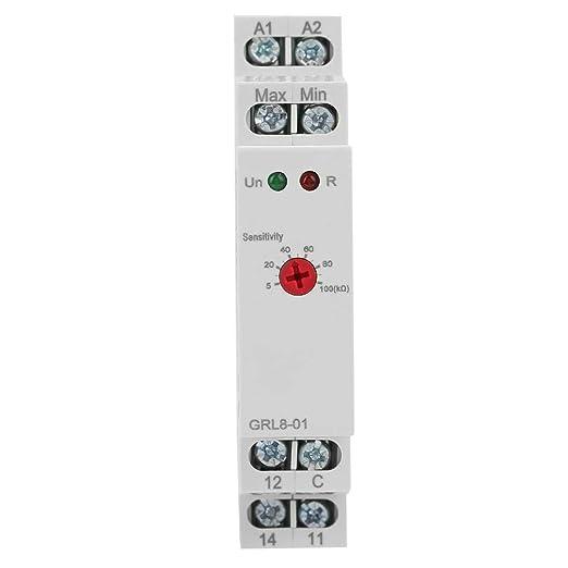 10 A AC//DC 24V-240V GRL8-01 Contr/ôleur de niveau deau de relais de contr/ôle de niveau avec voyant /à LED