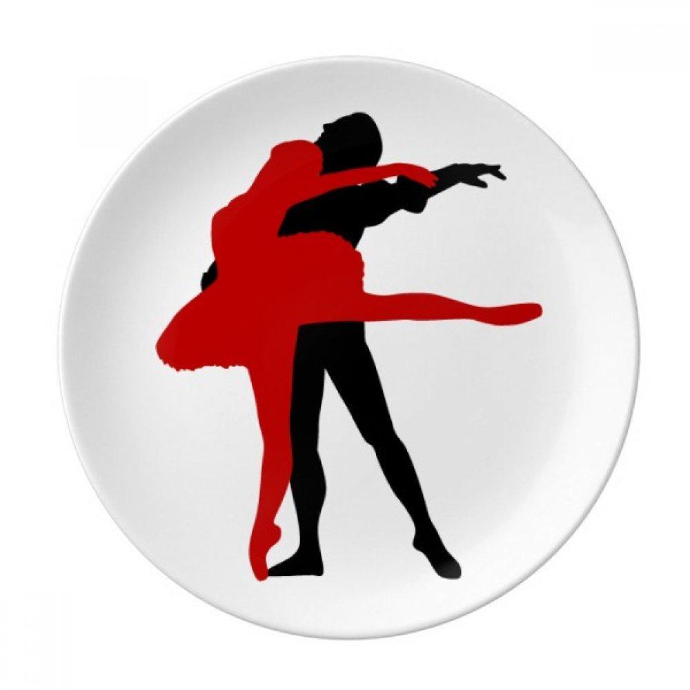 Performance Social Dancing Duet Dance Dessert Plate Decorative Porcelain 8 inch Dinner Home