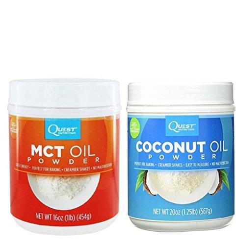 Quest Nutrition Coconut Oil Powder 20 oz (1.25 lbs) (Bunndle)
